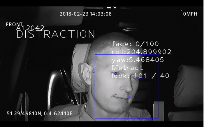 Facial Detection System by Exeros prevents against driver distraction