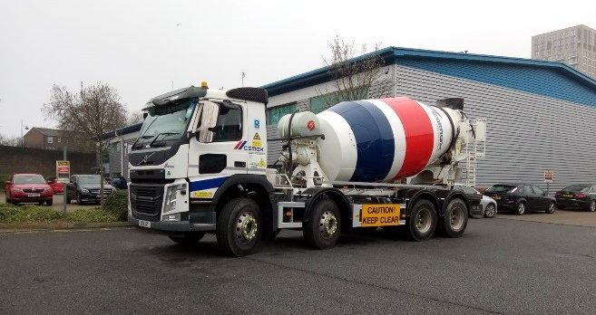 CEMEX ready-mix fleet vehicle equipped with Exeros Technologies camera systems