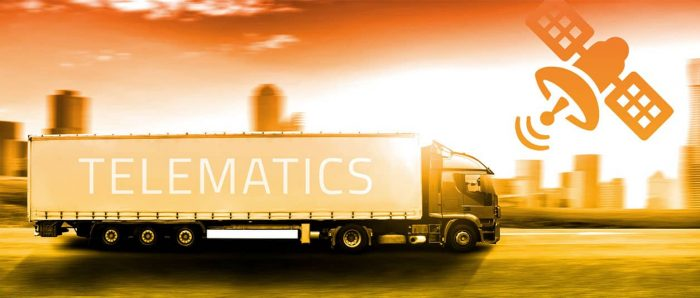 Delivery lorries use fleet telematics to get best delivery routes in the UK