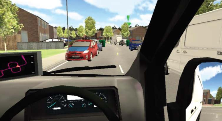 Driver training Simulation in action